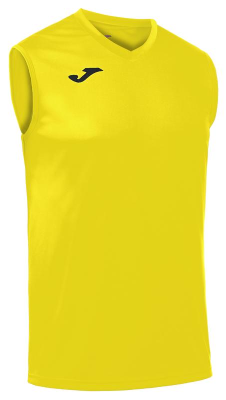 Camiseta sin mangas. Amarillo