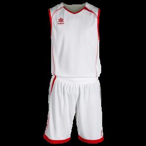 Conjunto de baloncesto. Equipación completa.